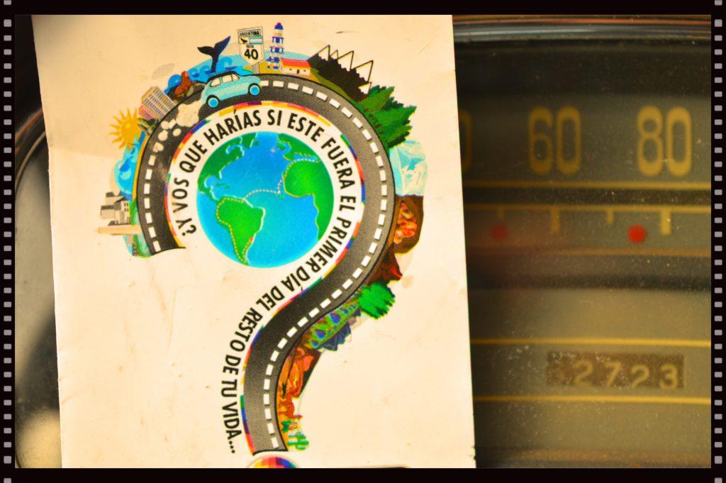 cartolina kilometro a kilometro giro del mondo fiat 1100 scomfort zone sudamerica