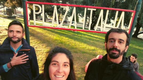 plaza italia a Bariloche gli argentini amano gli italiani
