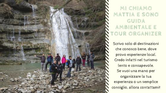 Mattia fiorentini guida ambientale e tour organizer trekking cascata acquacheta Parco Nazionale Foreste Casentinesi