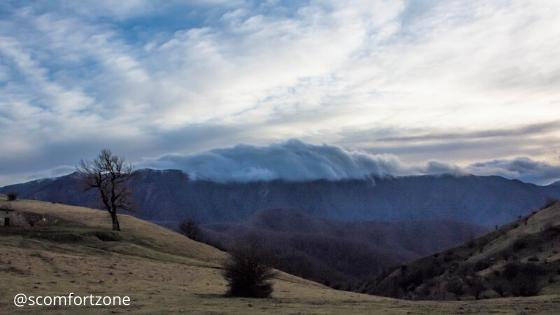 nuvole nel Parco Nazionale delle Foreste Casentinesi vista da San Paolo in Alpe della Campigna