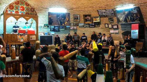Cosa fare in Iran vedere un allenamento di Zoorkhaneh Yazd consigli di Mattia Fiorentini viaggiatore local fondatore del portale Scomfort Zone
