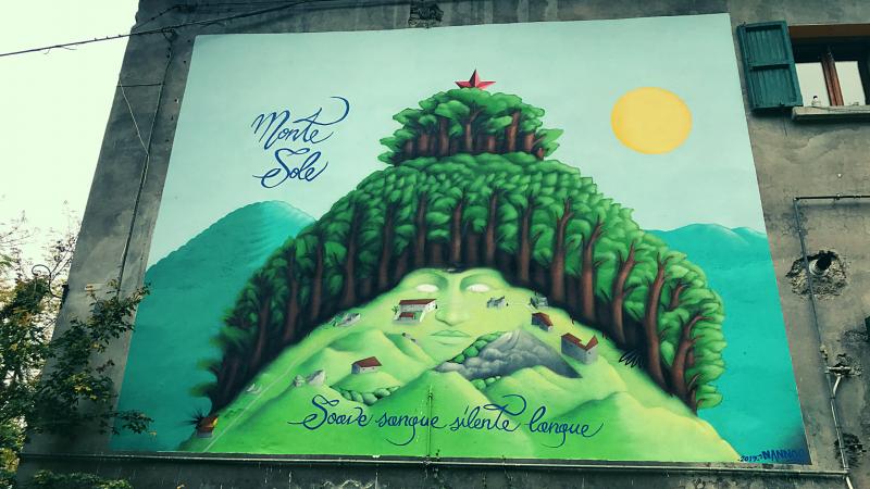 Trekking a Monte Sole memoria eccidio Marzabotto murales